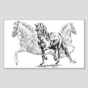 Elegant Horse Rectangle Sticker