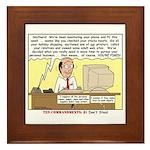 Do Not Steal Framed Tile