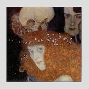 Gustav Klimt Art Tile Coaster - Hope I Detail