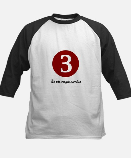 3 Its the Magic Number Kids Baseball Jersey