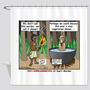 What is for Dinner Shower Curtain