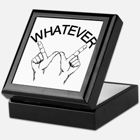 Whatever ... Hand gesture Keepsake Box