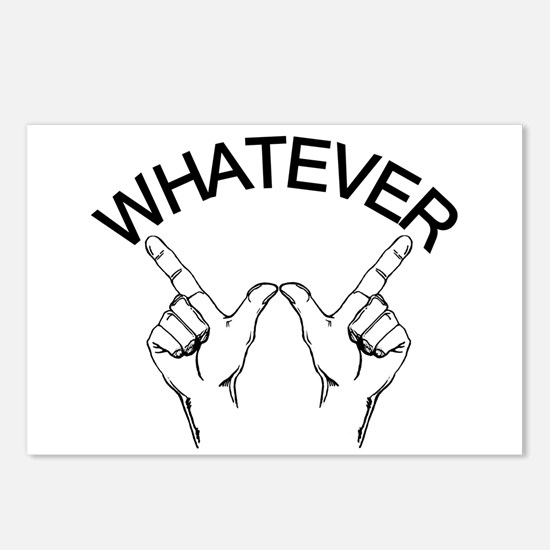 Whatever ... Hand gesture Postcards (Package of 8)