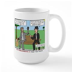 Bums Bragging Large Mug