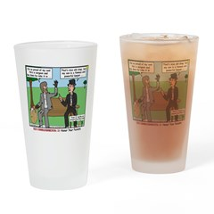 Bums Bragging Drinking Glass