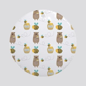 Bears and Bees Ornament (Round)