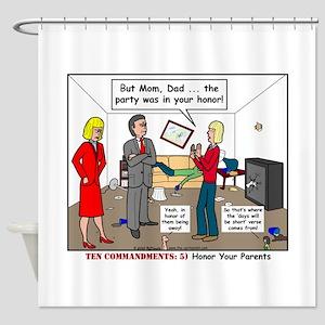 Parent Party Shower Curtain