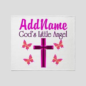 GOD'S LITTLE ANGEL Throw Blanket