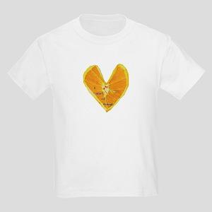 Orange Heart Kids T-Shirt
