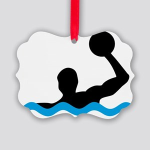 waterpolo Picture Ornament