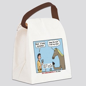 Lucky Horseshoe Canvas Lunch Bag