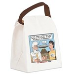 Fine Print Canvas Lunch Bag