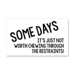 Chewing Through The Restraints Car Magnet 20 x 12