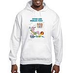 DOGS ARE HUMAN TOO! (b) Hooded Sweatshirt