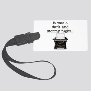 Dark and stormy - Large Luggage Tag