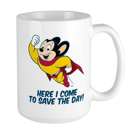 Mighty Mouse Here I Come Mugs