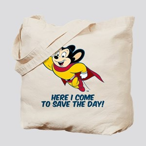 Mighty Mouse Here I Come Tote Bag