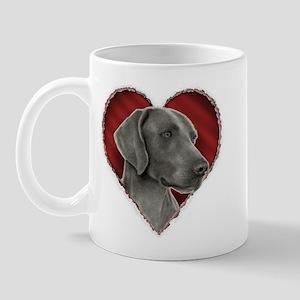 Weimeraner Valentine Mug