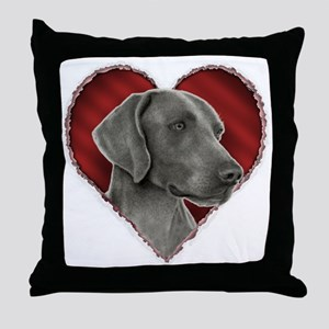 Weimeraner Valentine Throw Pillow