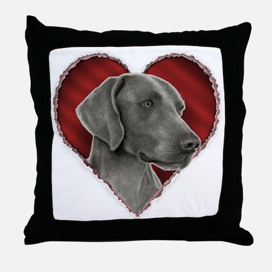 Weimeraner Valentine Throw Pillow