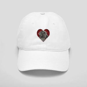 Weimeraner Valentine Cap