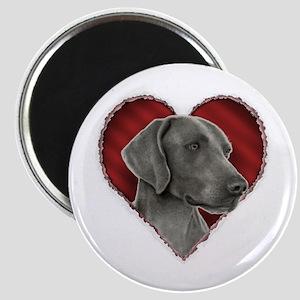 Weimeraner Valentine Magnet