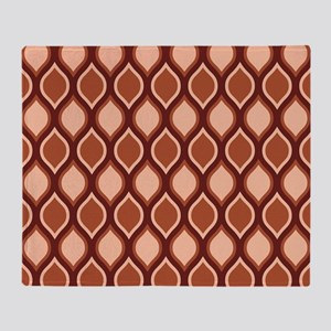 Dusty Rose Wavy Lattice Pattern Throw Blanket