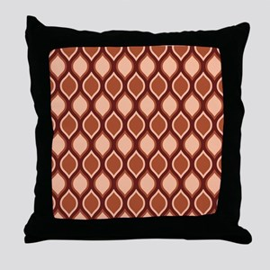 Dusty Rose Wavy Lattice Pattern Throw Pillow