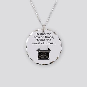 Best of times - Necklace Circle Charm