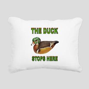DUCK STOPS HERE Rectangular Canvas Pillow