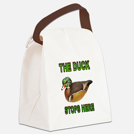 DUCK STOPS HERE Canvas Lunch Bag