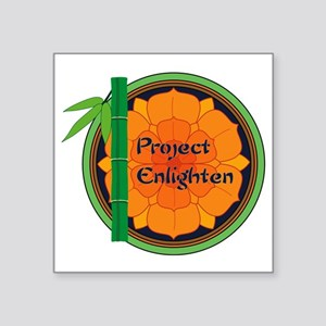 """Official Project Enlighten Square Sticker 3"""" x 3"""""""