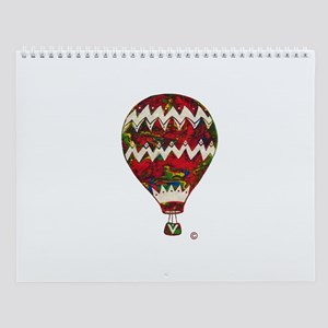 Hot Air Balloon In Silkscreen Zig Zag Wall Calenda