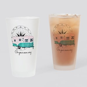 Go Your Own Way Drinking Glass