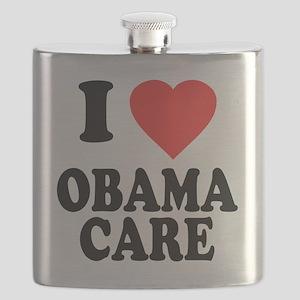 I Love Obamacare Flask