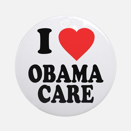 I Love Obamacare Round Ornament