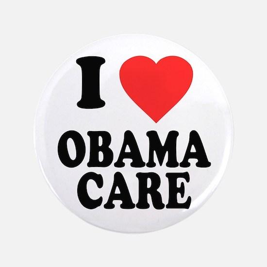 """I Love Obamacare 3.5"""" Button"""