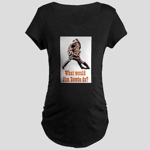 Jim Bowie Maternity Dark T-Shirt