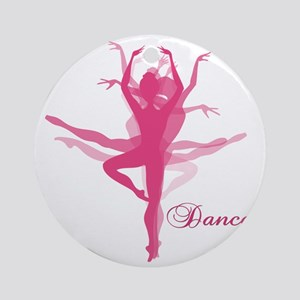 Ballet Dancer Round Ornament