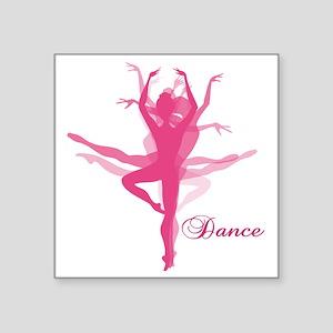 """Ballet Dancer Square Sticker 3"""" x 3"""""""