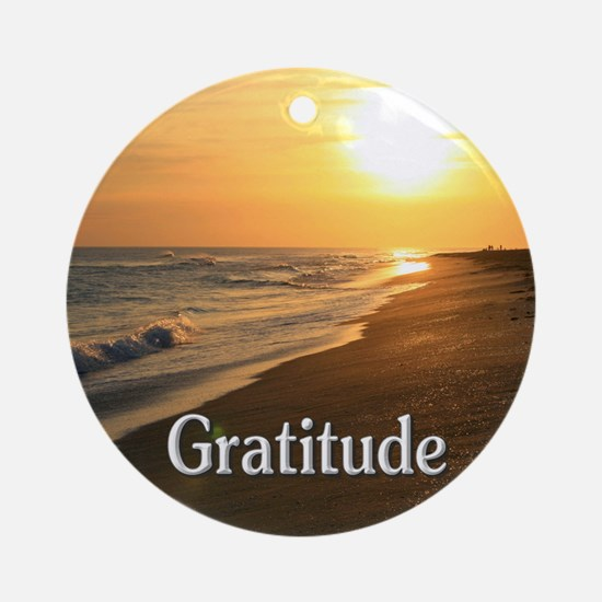 Gratitude for a Beautiful Life Round Ornament
