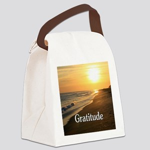 Gratitude for a Beautiful Life Canvas Lunch Bag