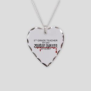 Zombie Hunter - 5th Grade Necklace Heart Charm