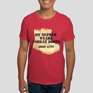 Army Aunt Nephew Desert Combat Boots T-Shirt