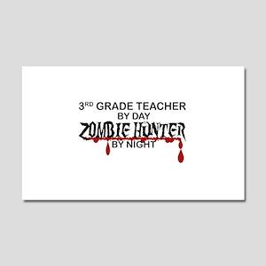 Zombie Hunter - 3rd Grade Car Magnet 20 x 12