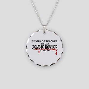 Zombie Hunter - 3rd Grade Necklace Circle Charm