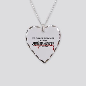 Zombie Hunter - 3rd Grade Necklace Heart Charm