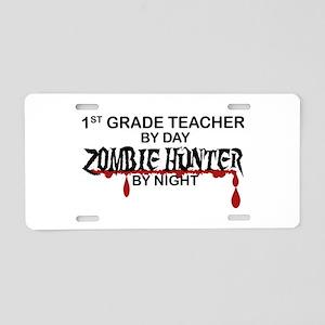 Zombie Hunter - 1st Grade Aluminum License Plate