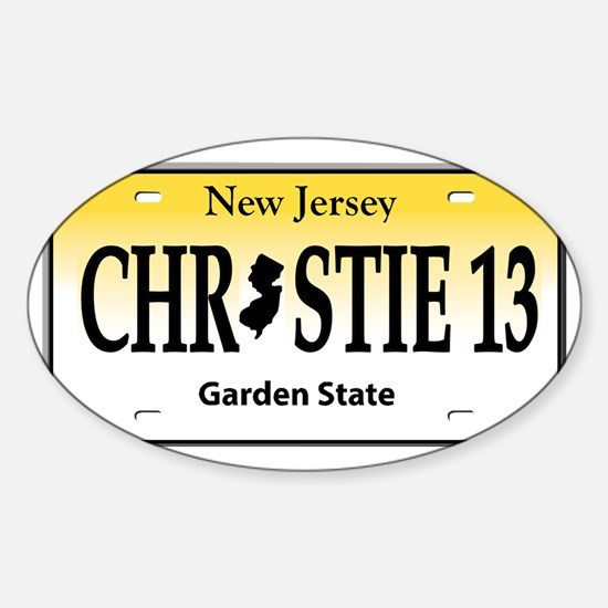 christie 13 Sticker (Oval)
