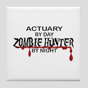 Zombie Hunter - Actuary Tile Coaster